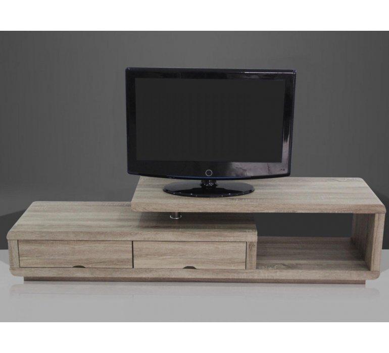 Meuble TV coloris chêne moderne CELIA