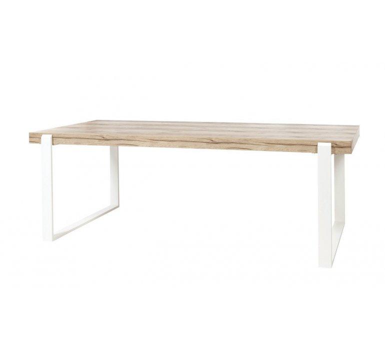Salle à manger coloris bois et blanc scandinave GRIMSTAD