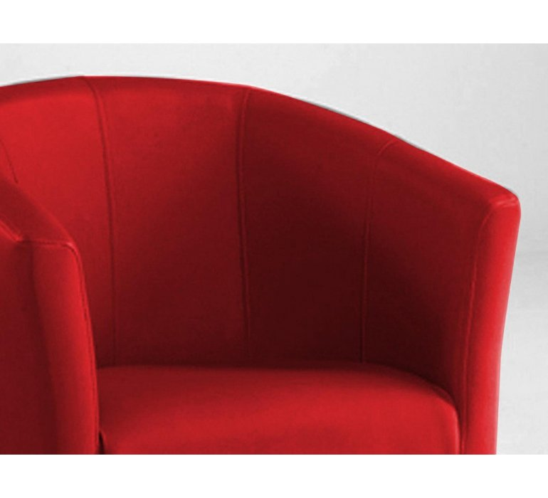 Fauteuil cabriolet PU rouge design RUBIS