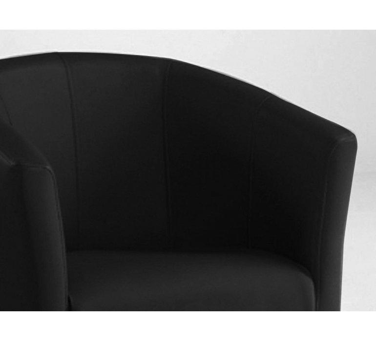 Fauteuil cabriolet PU noir design VINTIMILLE