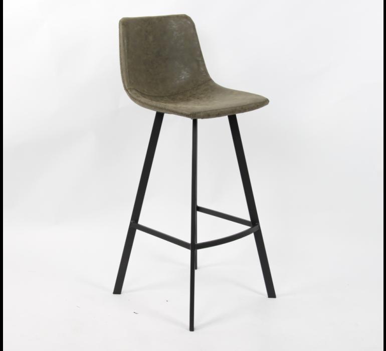 Chaise de bar en PU avec surpiqûres industriel VINTAGE