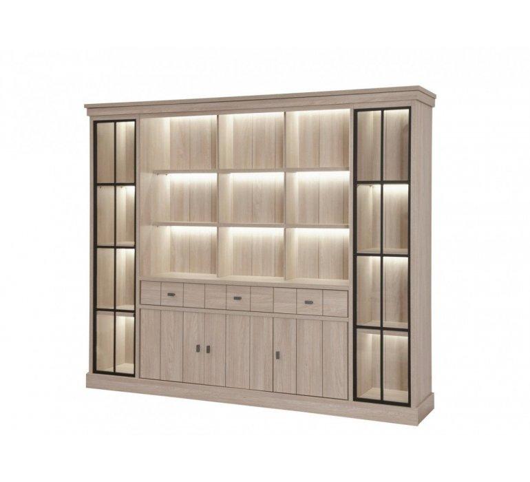 Bibliothèque contemporaine bois clair FANNY