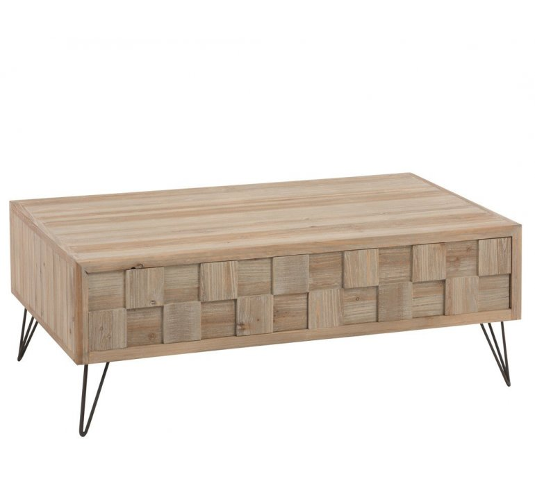 Table Basse Bois Clair Scandinave