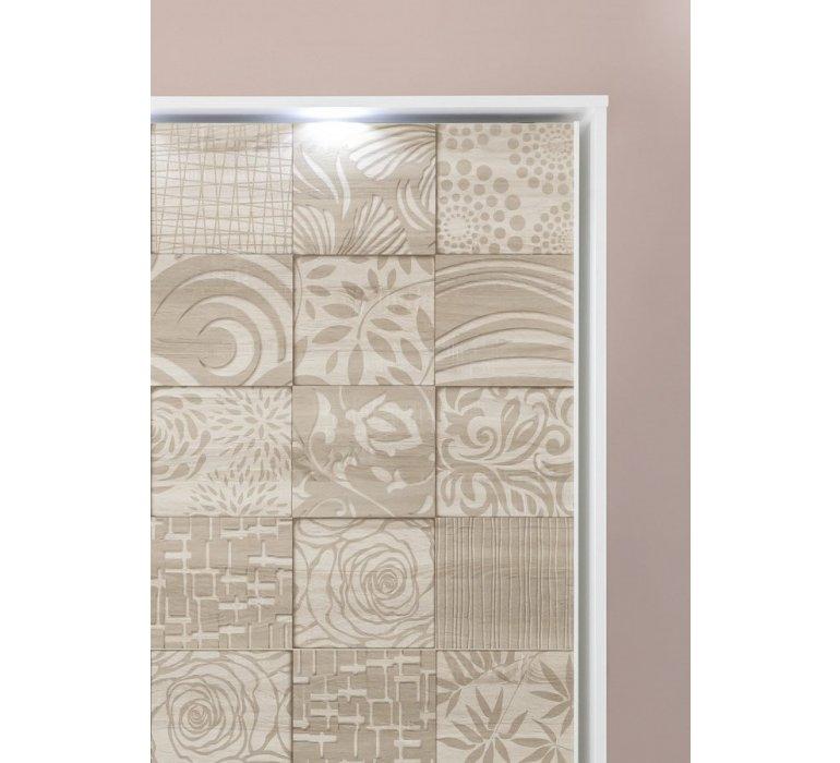 Chambre à coucher complète blanc et beige avec motifs NATURA