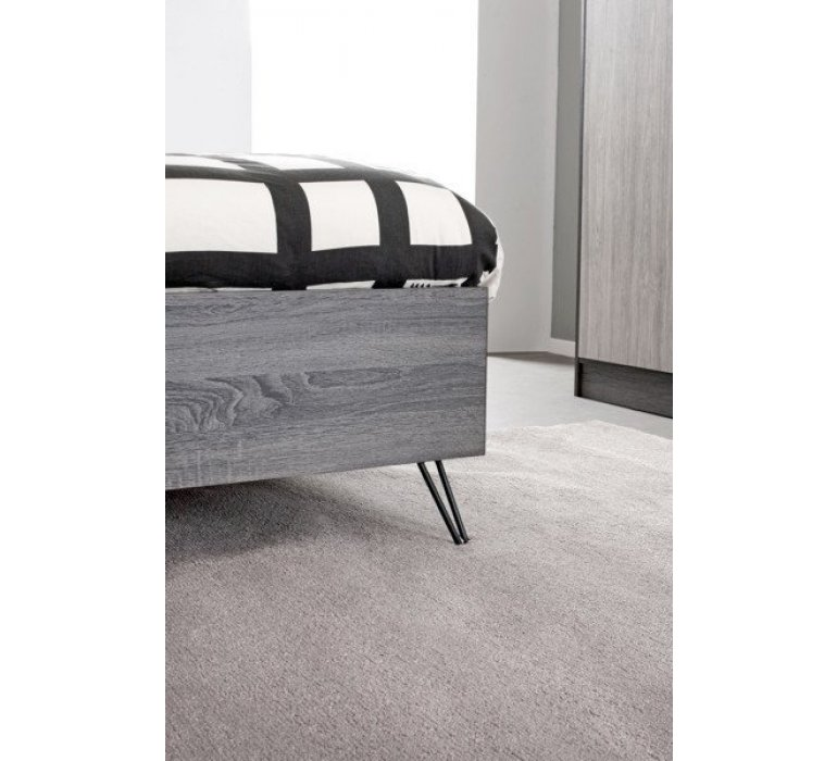 Chambre à coucher enfant scandinave gris clair et anthracite ARHUS
