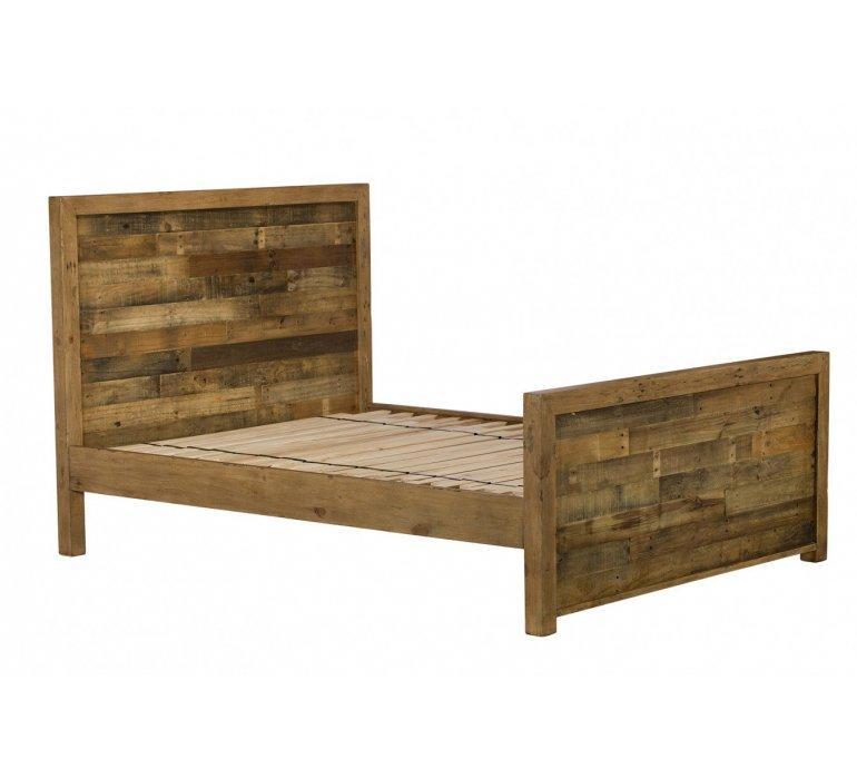 Chambre à coucher industrielle bois massif BROOKLYN