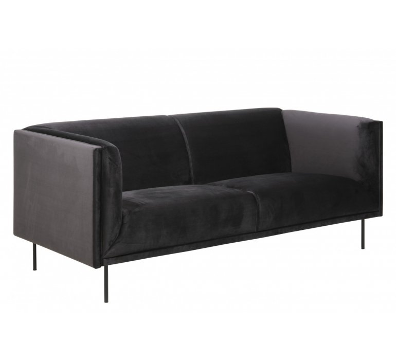 Canapé 3 places moderne gris BLACKPEARL