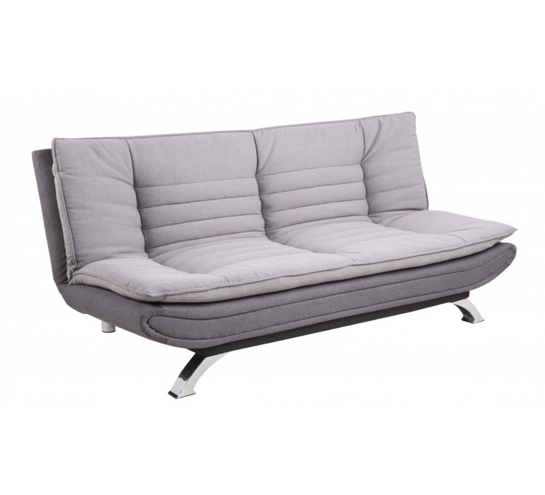 Canapé design convertible tissu gris DROPLEXX