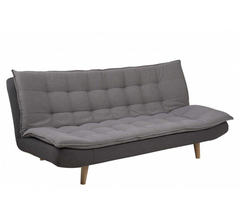 Canapé scandinave convertible tissu gris SVENN
