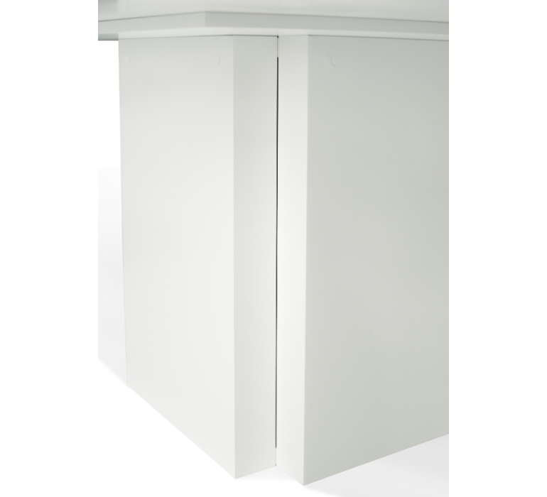 Table carrée design blanche SORRENTE