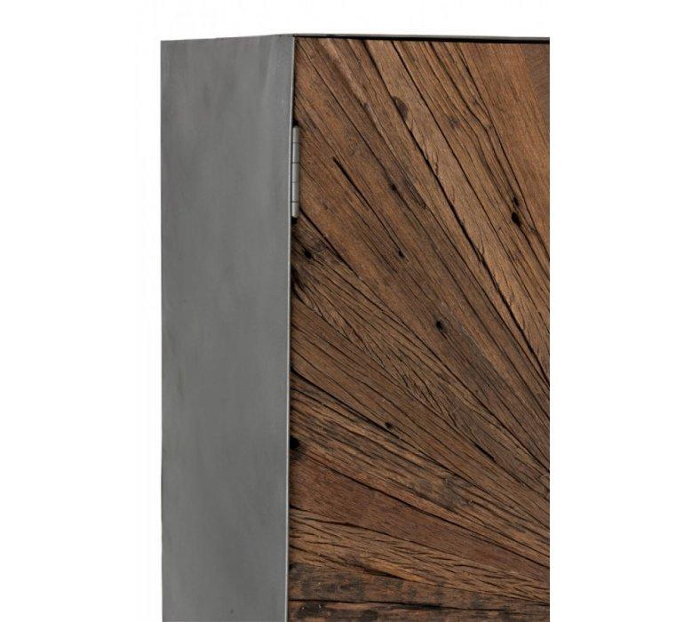 Buffet haut industriel bois et métal SHANY
