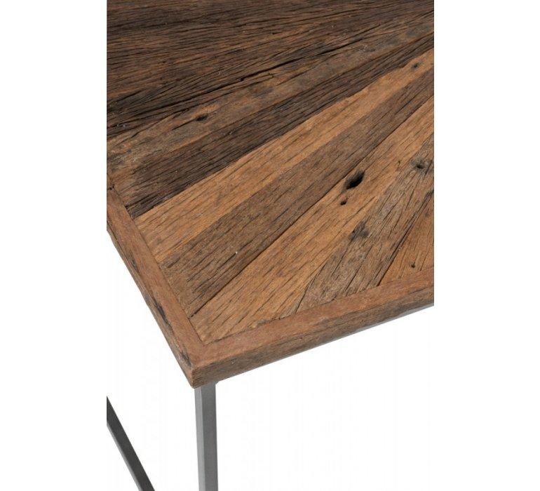 Table basse bois et métal 120cm industriel SHANY