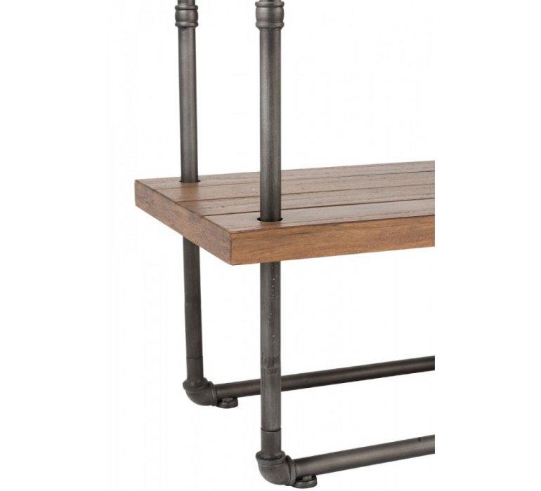 Console bois et métal industriel 3 étagères FERRY