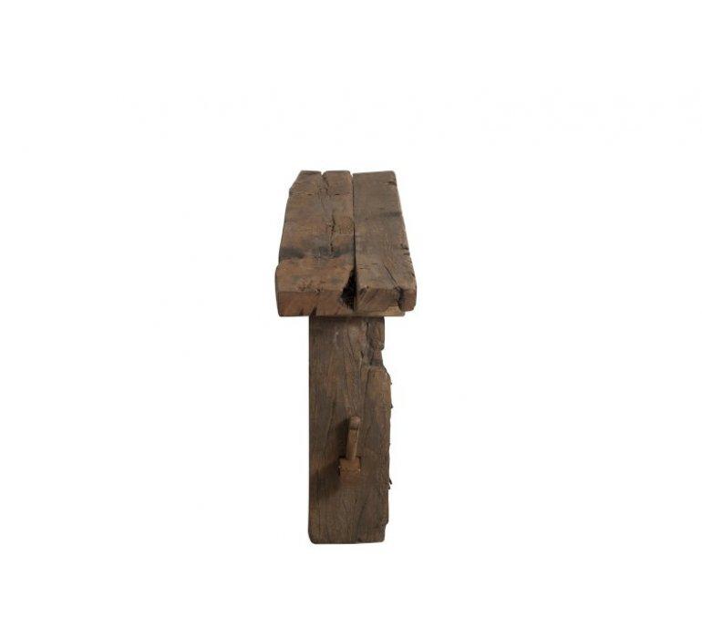 Console bois recyclé 150cm industriel KAMELOT