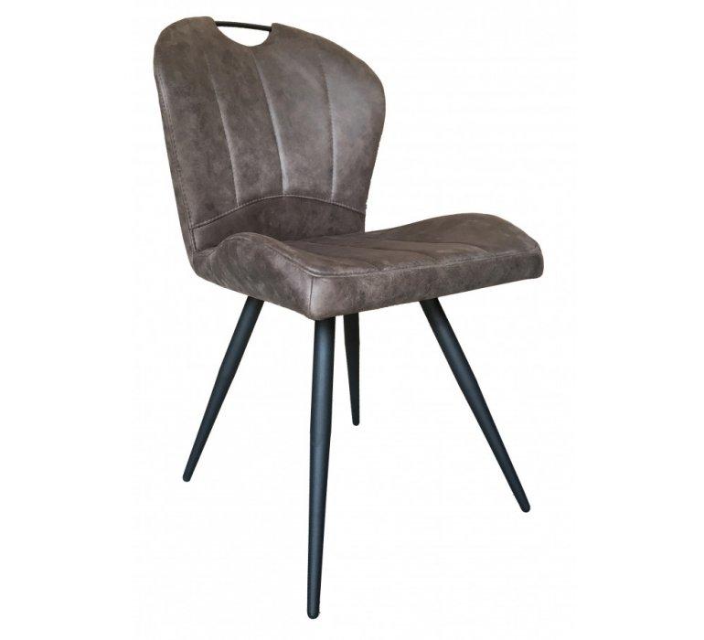 Chaise marron design avec poignée HARVEY