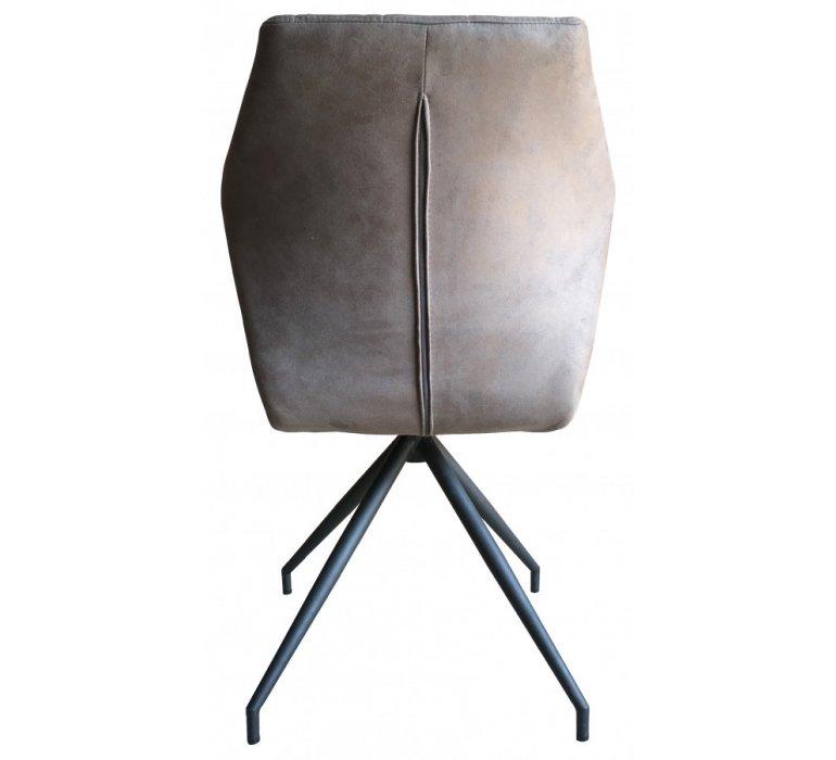 Chaise design grise pied en étoile STAR