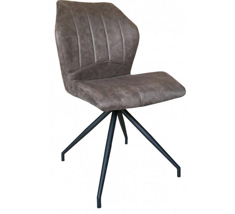 Chaise design marron pied en étoile BUGGS