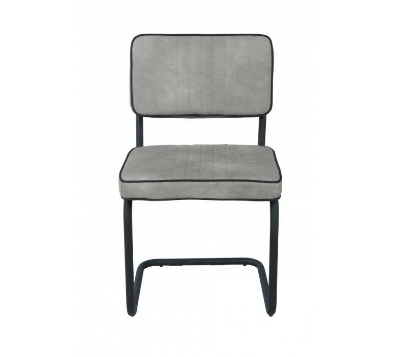 Chaise design vintage gris pied trapèze MARTY