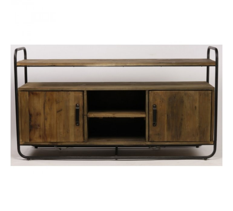 Buffet style industriel bois massif et métal 180cm BUFFY