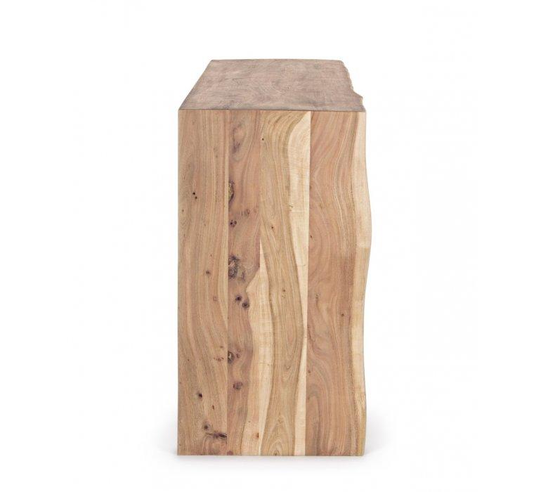 Buffet bois massif scandinave effet tronc d'arbre TRADBORJ