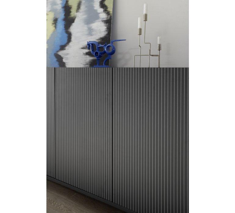Buffet haut moderne gris 3 portes ROCCA