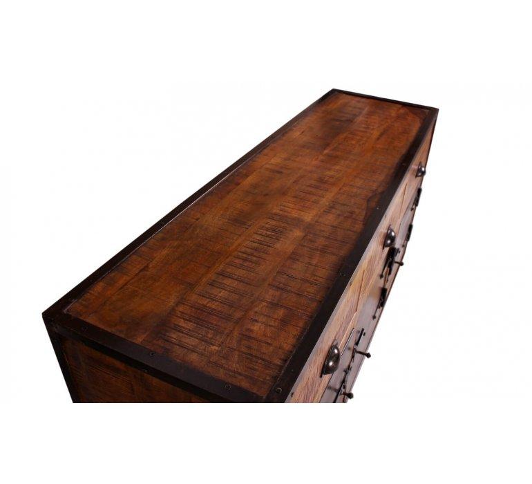 Buffet industriel 3 portes bois et métal ATLANTA