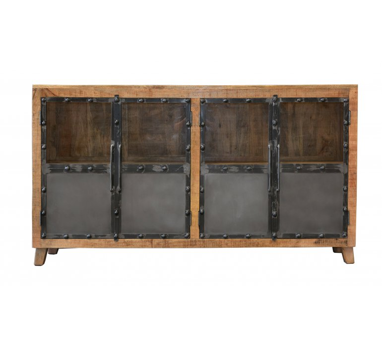 Buffet industriel bois et métal LINCOLN