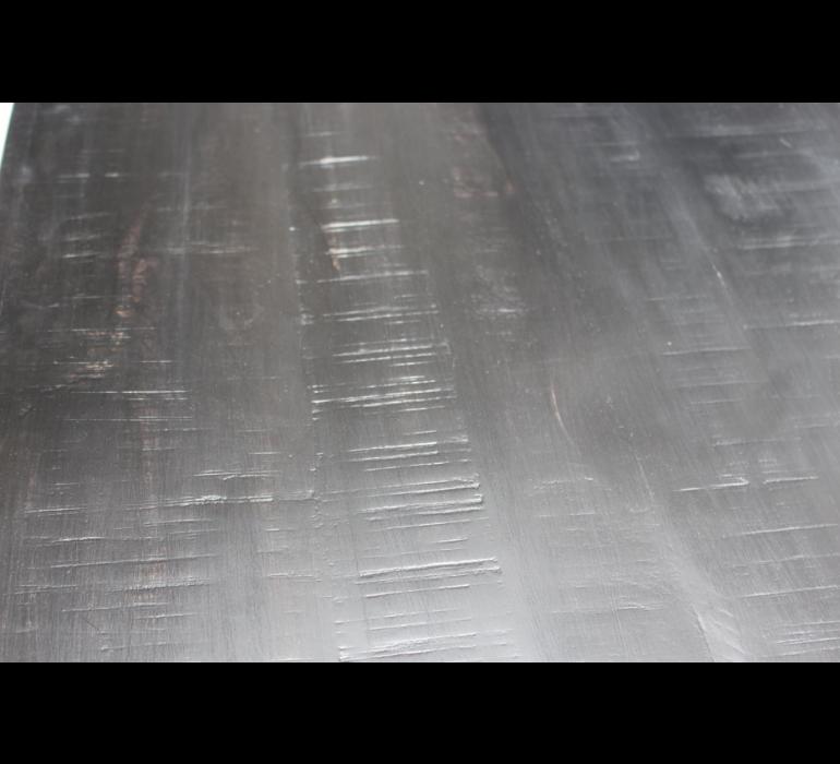 Meuble TV industriel bois noir et métal BLACKPEARL
