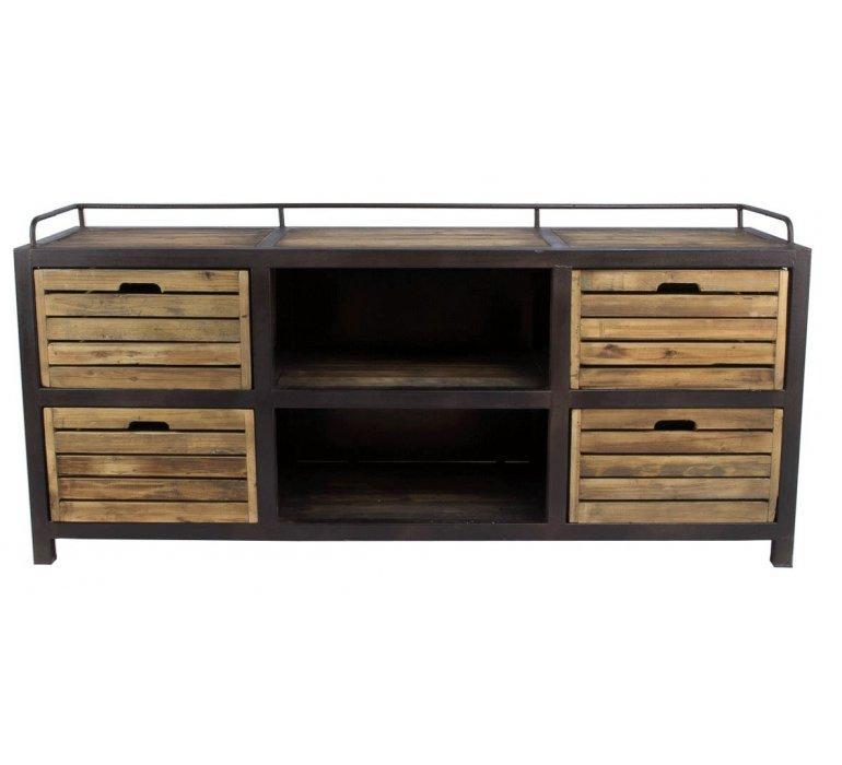 Buffet métal et bois industriel 170cm UTAH