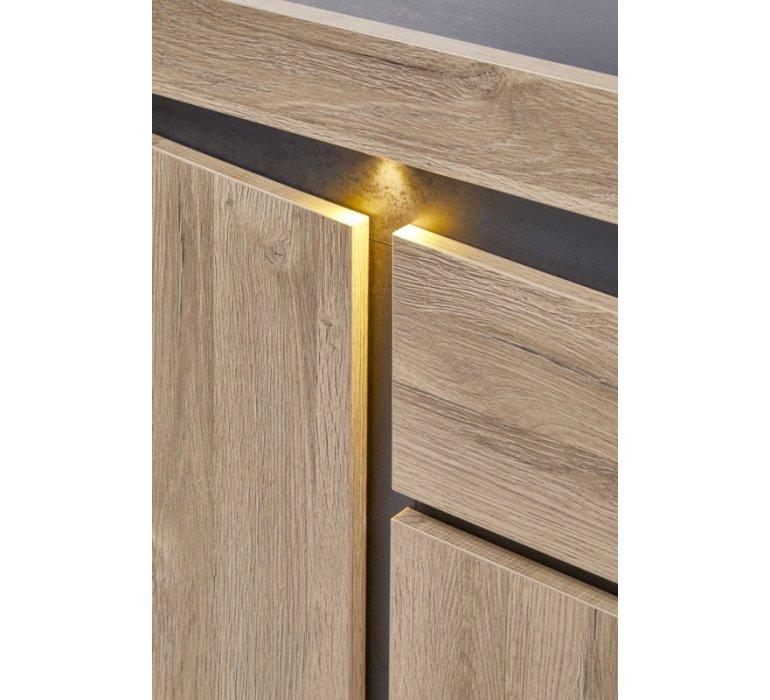 Buffet moderne bois clair 3 portes et 1 tiroir LENSON
