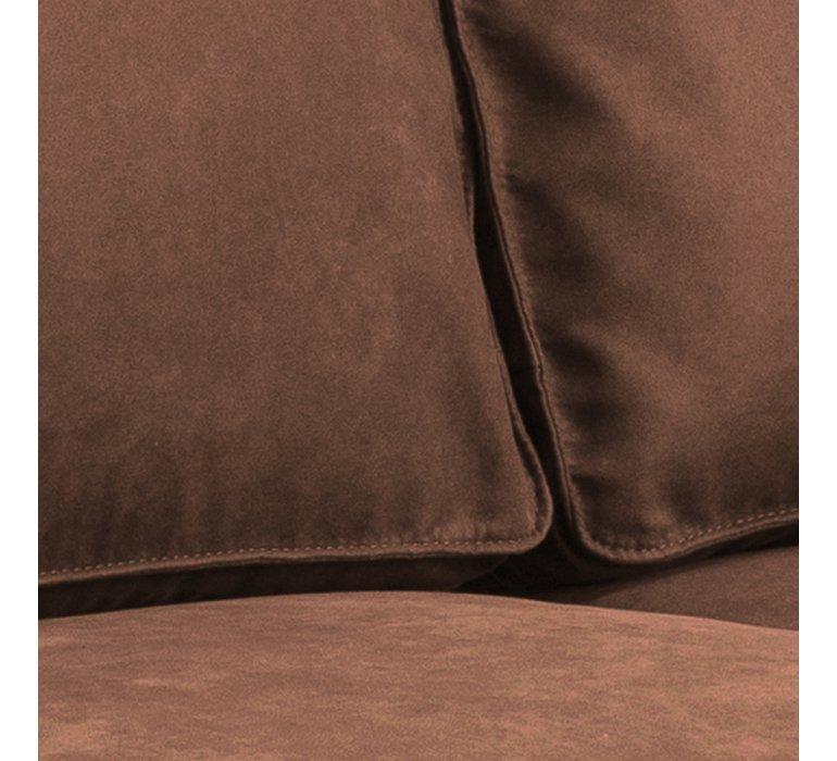Canapé tissu 2 places industriel marron COLORADO