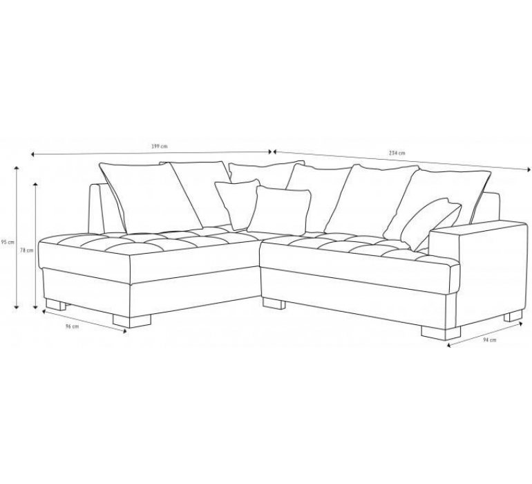 Canapé d'angle tissu gris et fuschia contemporain ROZY