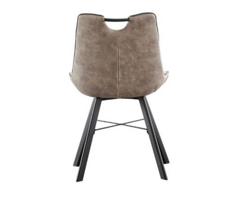 Chaise avec poignée moderne grise RIKKE
