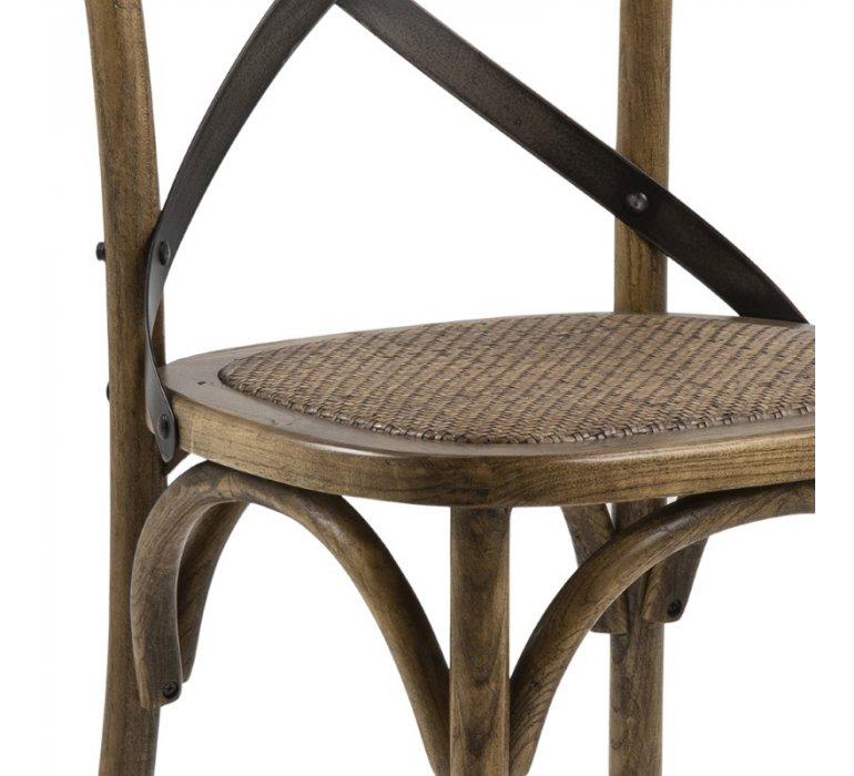 Chaise bistrot industrielle bois naturel vintage PUB