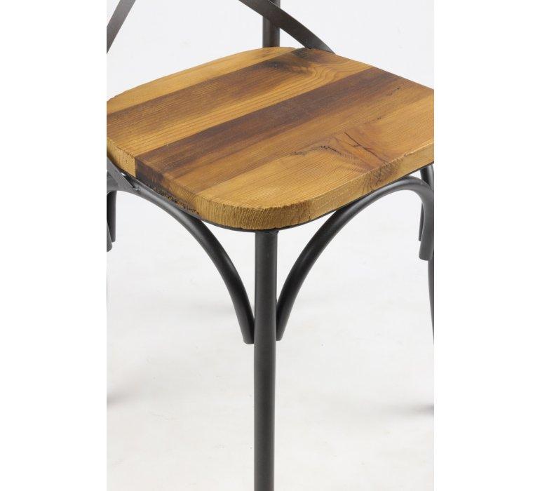 Chaise bistrot industrielle bois et métal TRADITION