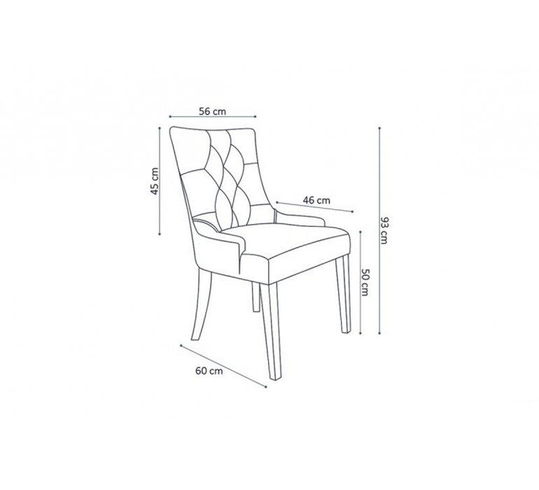 Chaise capitonnée tissu gris style charme CONSTANCE