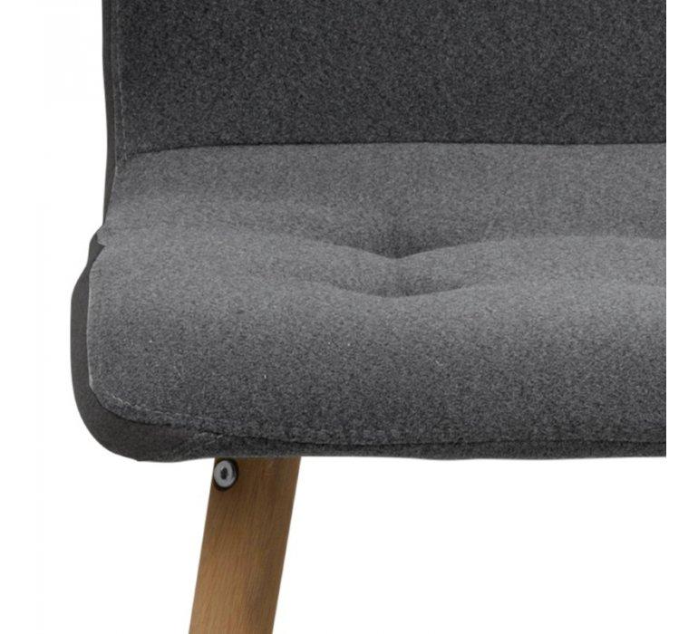 Chaise capitonnée scandinave grise (lot de 2) ARTHUS