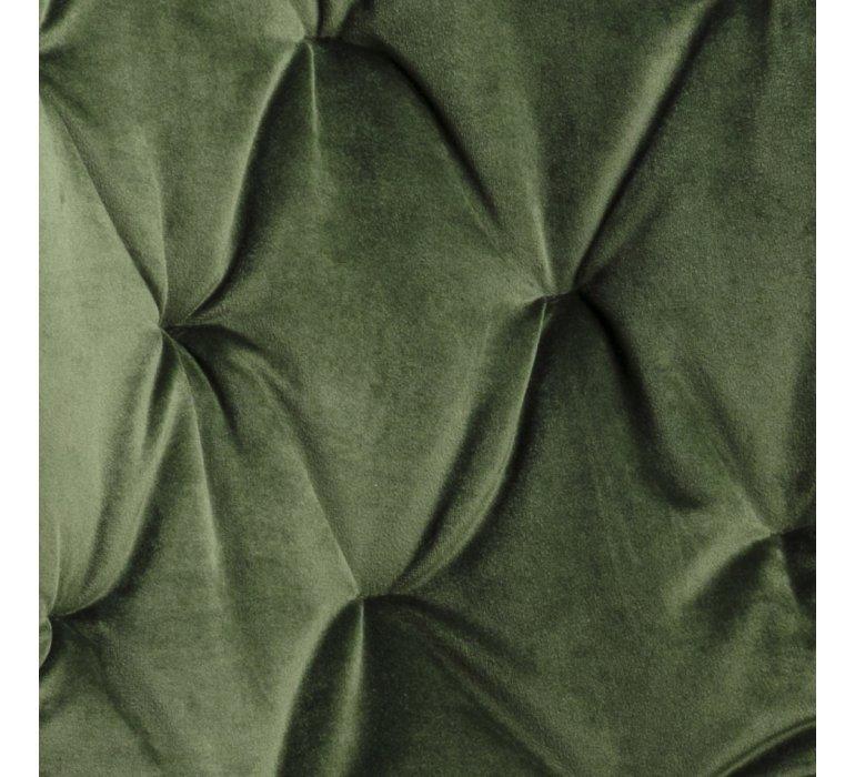 Chaise capitonnée velours vert JADE