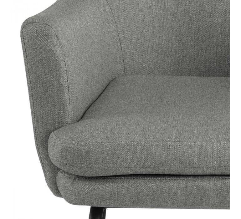 Chaise de bar en tissu gris clair moderne YVES