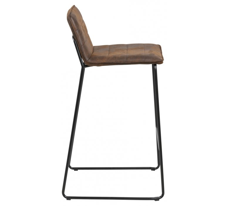 Chaise de bar industrielle effet vieilli marron (lot de 2) WYOMING