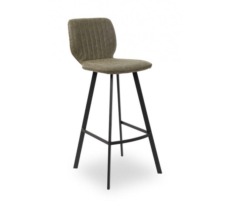 Chaise de bar industrielle taupe YANKEES
