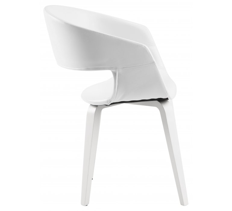 Chaise design blanche (lot de 2) LAZIO
