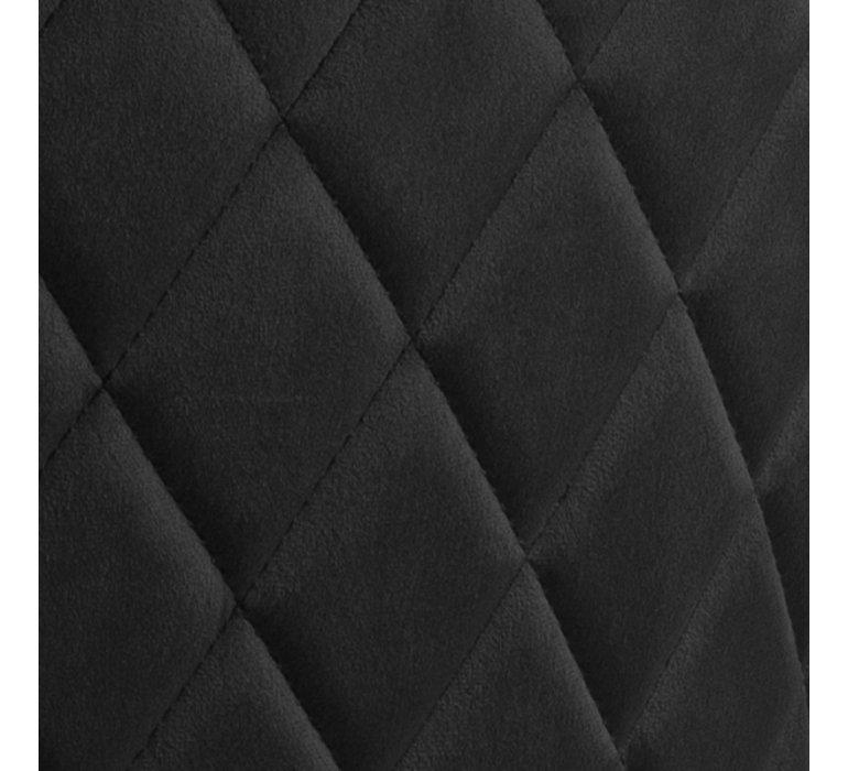 Chaise design capitonnée velours noir (lot de 2) PRESTANCE