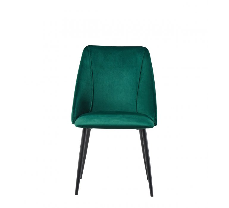 Chaise design velours vert EMERAUDE