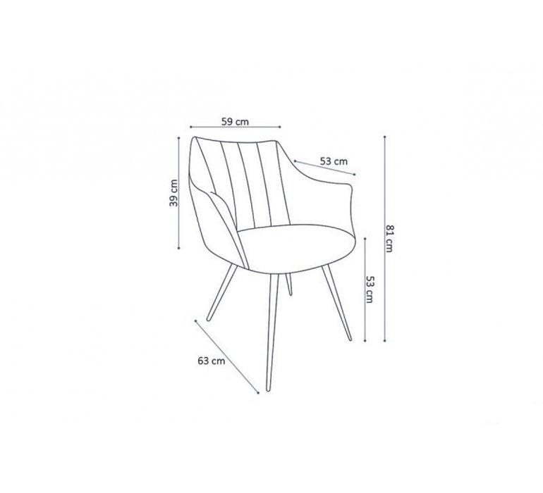 Chaise fauteuil capitonnée moderne taupe ANDORA