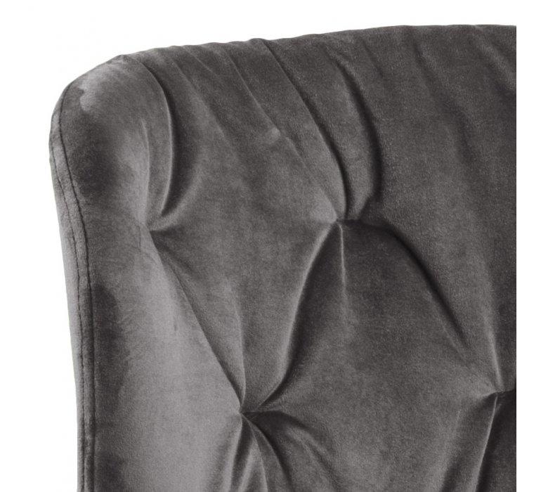 Chaise grise capitonnée velours CELESTE