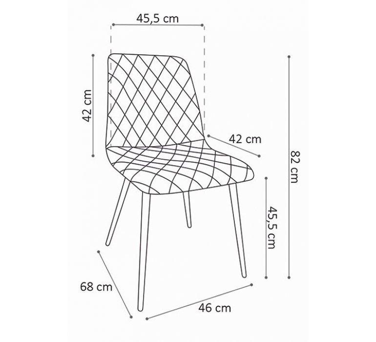 Chaise industrielle grise effet capitonné DAVIS