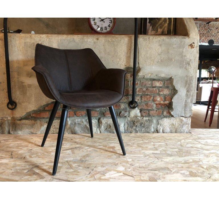 Chaise industrielle marron BUTTERFLY