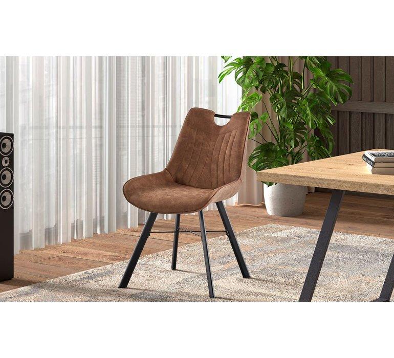 Chaise industrielle marron moderne avec poignée SPURS