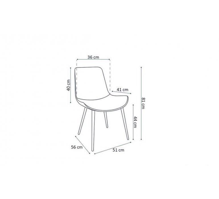 Chaise industrielle marron piétement métal noir MADISSON